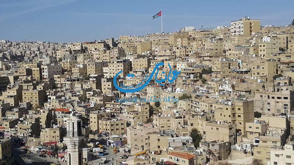 مناطق في عمان كما تظهر من جبل القلعة