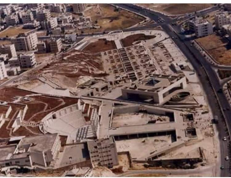صورة جوية لحدائق الملك عبد الله أثناء إنشائها سنة ١٩٨٨